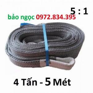 Dây cáp vải 4 tấn dài 5 mét bản 100mm