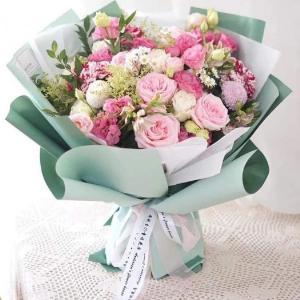 Bó hoa chúc mừng sinh nhật tone hồng thơ mộng - LDNK62