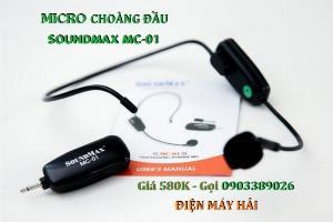 Micro choàng đầu SoundMax MC-01 trợ giảng, thuyết trình, Karaoke đều được