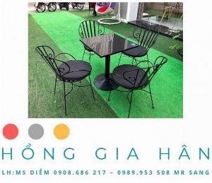 Bàn Ghế Sắt Hoa Văn Cho Phòng Trà, Cafe Vintage HGH