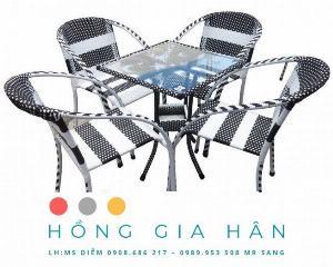 Bàn Ghế Cafe, Trà Sữa Mây Nhựa HGH