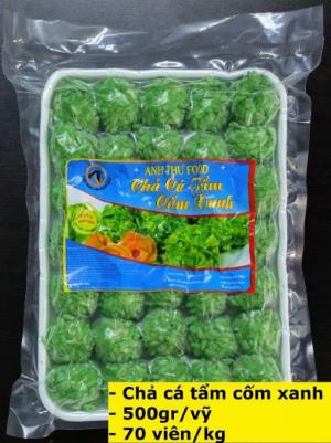 Chả cá surimi tẩm cốm xanh