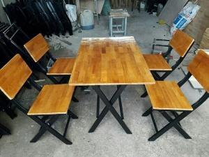 Bộ bàn ghế gỗ quán nhậu cao cấp giá rẻ Ak