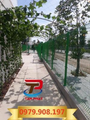 Hàng rào lưới thẳng sơn tĩnh điện, hàng rào lưới thép đẹp