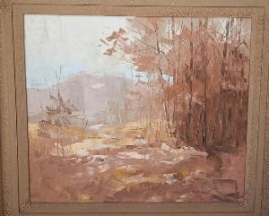 Tranh sơn dầu xưa cũ kích thước 90x100cm