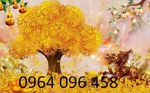 Tranh cây tiền vàng - tranh gạch 3d cây tiền vàng - XN76