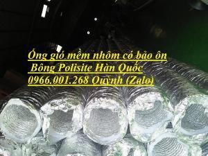 Đơn vị bán ống gió mềm nhôm có bảo ôn phi 100,phi 125,phi 150,phi 200,phi 250,phi 300 ,phi 350 sợi bông Polisite