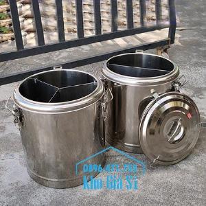 Cung cấp các loại thùng inox giữ nhiệt, thùng inox cách nhiệt 2 ngăn và 3 ngăn đựng cơm canh, cháo soup, thức ăn nấu chín, vận chuyển thức ăn