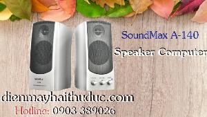 Loa Vi tính SoundMax A-140 và A-150 có 2 màu Bạc và Đen