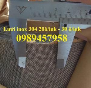 Lưới chống muỗi 20 ô/ink, Lưới chống côn trùng 30 ô / ink, Lưới chắn rác inox304