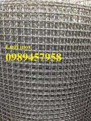 Lưới inox ô 10x10, 20x20, 30x30, Lưới inox304 15x15 dây 1,5ly, 2ly, inox316 có sẵn