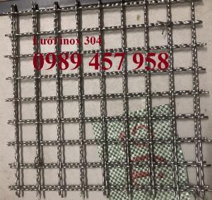 Lưới inox304 dây 0,5ly, 0,7ly, 1ly ô 3x3, 5x5, 10x10, 15x15, 20x20