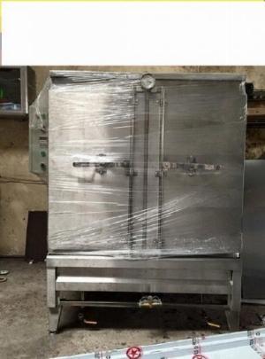 Tủ inox nấu cơm 16 khay dùng điện Hải Minh HM 04