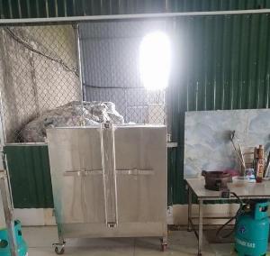 Tủ nấu cơm công nghiệp inox 304 HM 05 Hải Minh