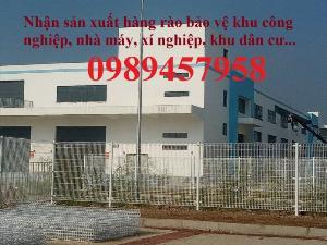 Lưới hàng rào sơn tĩnh điện phi 5 a 50x150, Hàng rào mạ kẽm nhúng nóng D5 50x200