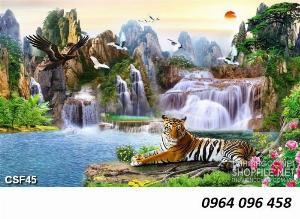 Tranh hổ - gạch tranh hổ 3d - BNM87