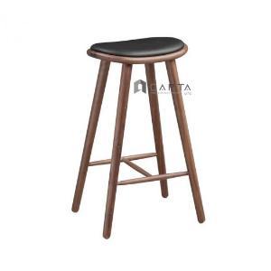 Ghế bar 4 chân gỗ mặt ngồi nệm không tựa Napoli