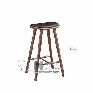 Ghế Bar Cao 65cm Chân Gỗ Dành Cho Đảo Bếp Hiện Đại HCM