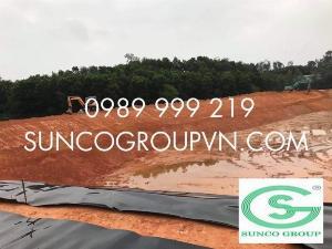 Sử dụng bạt đen hdpe 2 mặt cho công trình lót hầm,lót bioga-suncogroup việt nam