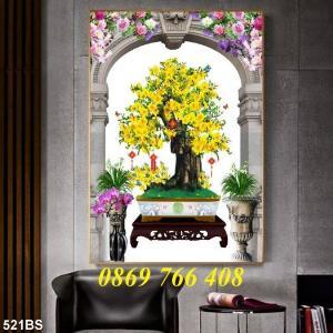 Tranh hoa mai-tranh treo tường
