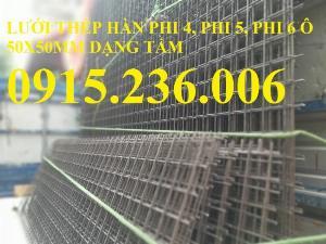 Chuyên sản xuất lưới thép hàn, lưới thép hàn chập D4, D5, D6 ô (50x50mm), (100x100mm), (150x150mm) giá rẻ tại Hà Nội