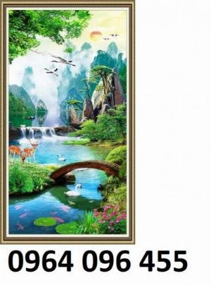 Tranh 3d - tranh gạch 3d trang trí - XLK8