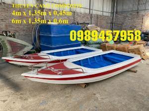 Thuyền composite chở 8-10 người, Thuyền chở 4-6 người có sẵn