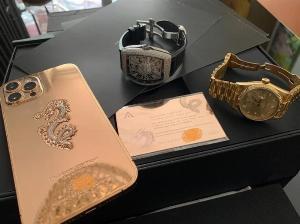 Golden Ace iphone 12 pro max vàng khối