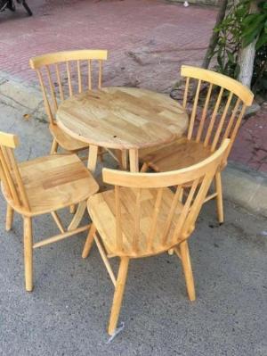 Bộ bàn ghế gỗ cà phê hiện đại giá rẻ