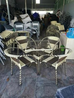 Bộ bàn ghế mây nhựa cao cấp giá tại xưỡng