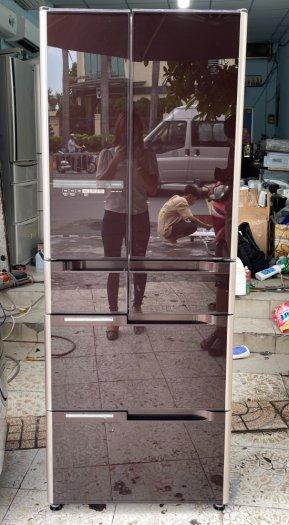 Tủ lạnh nội địa Nhật HITACHI R-C4800 mặt gương 475L hút chân không cao cấp