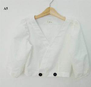Áo Crotop tay lỡ màu trắng trơn thời trang nữ trẻ trung A5