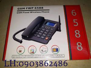 Điện Thoại Bàn Homephone Viettel Gsm Fwp 6588 Cố Định 1Sim Và 2 Sim (Dual Sim) Di Động