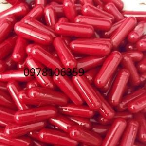 Vỏ nang cứng, vỏ nang gelatin màu đỏ tươi, vỏ nhộng rỗng màu đỏ