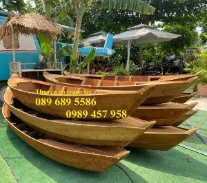Thuyền gỗ trang trí quán cafe, Thuyền gỗ nhà hàng 2m, 3m, 4m