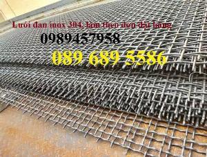 Lưới inox dây 2ly ô 20x20, Lưới inox dây 1.5mm ô 20x20, Lưới đan inox 304