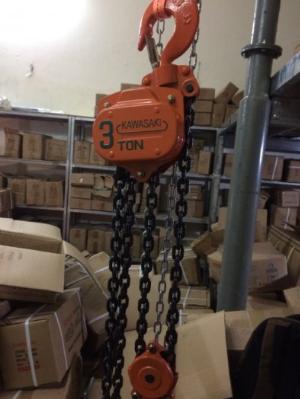 Pa lăng xích kéo tay 3 tấn 5m Kawasaki