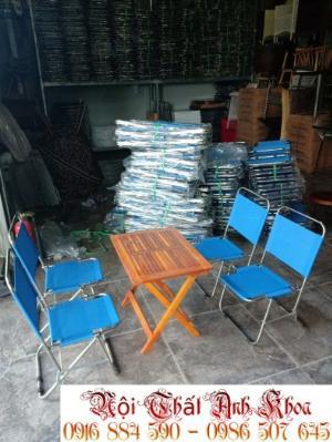 Bàn ghế sắc sơn tỉnh điện có đủ màu tại xưởng sản xuất anh khoa
