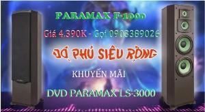 Loa Đứng Paramax F-1000 khuyến mãi DVD Paramax LS-3000