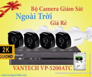Bộ 4 camera 2K ngoài trời Vantech khuyến mãi