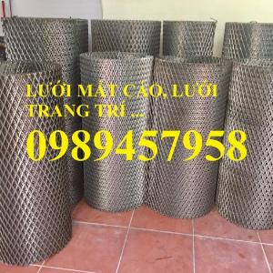 Sản xuất lưới thép dập giãn, Lưới hình thang, Lưới dập giãn inox