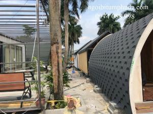 Tấm lợp bitum phủ đá vật liệu lợp mái cao cấp nhập khẩu thổ nhi kỳ, keo bitum chống thấm cho các loại mái