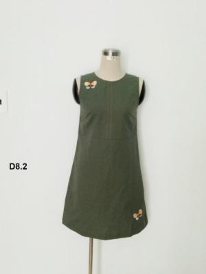 Đầm suông thêu họa tiết hình bướm đáng yêu thời trang tự thiết kế D8.2