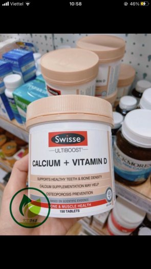 Swisse Canxi + Vitamin D - Bổ sung canxi cho cơ thể