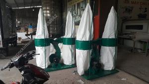 Máy hút bụi công nghiệp 2 túi vải dùng cho xưởng gỗ, giá rẻ tại tphcm, đồng nai