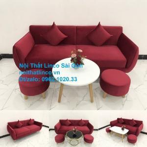 Ghế sofa văng dài 1m9 | Salong băng giá rẻ màu đỏ phòng khách hiện đại Linco Sài Gòn