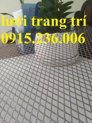 Lưới trang trí, lưới thép dập giãn, lưới cán phẳng, lưới mắt cáo, lưới hình thoi mới 100%