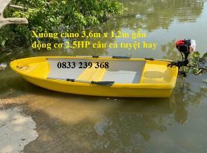 Thuyền câu cá cho 3 người, Thuyền chèo tay, thuyền gắn động cơ, áo phao