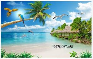 Tranh ốp tường - tranh bãi biển