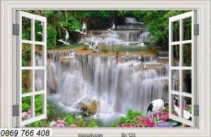 Tranh gạch-tranh cửa sổ 3D